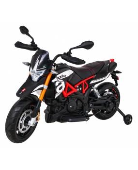Elektrická motorka Aprilia čierna